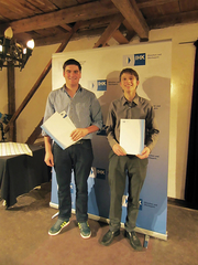 Roman Neuner (left) and Marco Rohrseitz were honored for their excellent academic achievements.
