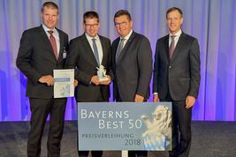 Urkundenübergabe Bayerns Best 50 mit der Firma ept