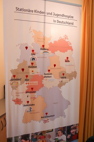 Die deutschlandweiten Standorte der Kinder- und Jugendhospize